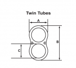 Dimensionig of twin tubes