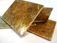 Hot molding mica plates