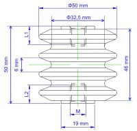 Dimension of MC5050S insulator
