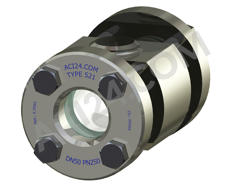 High-pressure flow sight glasses type 521 - primary view